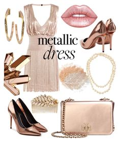 """""""Metallic"""" by lotus-lotusflower on Polyvore featuring Hervé Léger, Lime Crime, Alexander Wang, Tory Burch, Chanel, Miriam Haskell and Swarovski"""