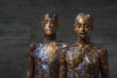 """Wood Sculpture by Aron Demetz: """"Wood is the direct fruit of the Earth, it is the mark of a marriage with its own territory, it is feeling part of a landscape, it is the reference to a cosmic dimension that art, at times, is able to decipher"""""""