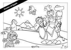 Efteling Kleurplaat Jokie Groeten uit Egypte