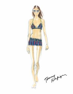 Tommy Hilfiger Womenswear Spring/Summer 2015 - http://olschis-world.de/  #TommyHilfiger #Womenswear #Sketch #SS15