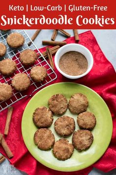 Keto Low Carb Snickerdoodle Cookie Recipe