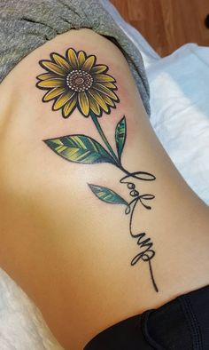 Celebrates the beauty of nature with these tattoos sunflower-inspiring beauty # Leo Tattoos, Dream Tattoos, Couple Tattoos, Future Tattoos, Body Art Tattoos, Wrist Tattoos, Small Tattoos, Sleeve Tattoos, Movie Tattoos