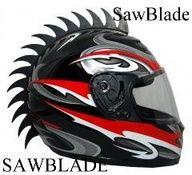 Dirt Bike ATV Rubber Saw 14/'/' Helmet Mohawks Spikes Scooter Bmx Skateboard Red
