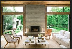 House Alert: Jenni Kayne's Beverly Hills Home Jenni Kayne purchased reclaimed wood from a barn in Pennsylvania to warm up her LA house.Jenni Kayne purchased reclaimed wood from a barn in Pennsylvania to warm up her LA house. Bedroom Fireplace, Home Fireplace, Fireplace Remodel, Fireplace Surrounds, Fireplace Design, Fireplace Ideas, Fireplace Kitchen, Fireplace Cover, Fireplace Shelves