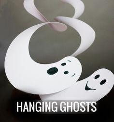 Szellemes forgók Halloweenra papírból egyszerűen / Mindy -  kreatív ötletek és dekorációk minden napra