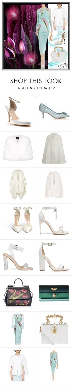 """""""What to Pack: NYFW"""" by yours-styling-best-friend ❤ liked on Polyvore featuring Shoes of Prey, Rachel Antonoff, Dolce&Gabbana, Harrods, The Row, Yves Saint Laurent, Alexandre Birman, Schutz, Ted Baker and Mojo Moxy"""
