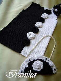 Платье Инь-Янь крючком или спицами