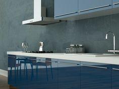 Granatowa kuchnia, jesteśmy na tak! www.globalo.pl