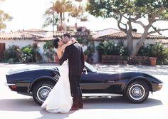 wedding getaway car   photo by Max Wanger   100 Layer Cake