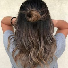 Black Coffee Hair With Ombre Highlights - 10 Cool Ideas of Coffee Brown Hair Color - The Trending Hairstyle Brown Hair Balayage, Brown Hair With Highlights, Brown Blonde Hair, Balayage Brunette, Ombre Hair, Brown Balyage, Ash Brunette, Medium Brunette Hair, Balayage Straight