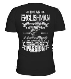 ENGLISHMAN FREEDOM RUGBY TEA TATTOO  #birthday #november #shirt #gift #ideas #photo #image #gift #rugby