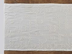 Abstract Embroidered Voile Table Runner