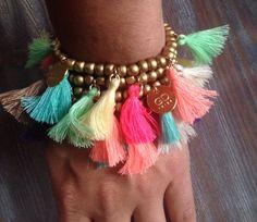 Georgeous Design Ibiza - Aloha bracelets gold/mc #georgeousdesign #ibiza #aloha #tassel #bracelets #musthaves #colors #boho #hippy #glam #spring #summer #2015 www.georgeousdesignibiza.com