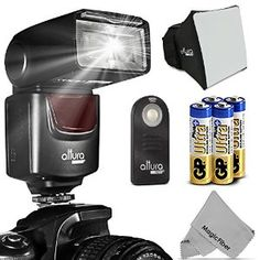 Amazon.com : Altura Photo (AP-UNV1) Speedlite Flash Kit for Canon Nikon Sony Panasonic Olympus Fujifilm Pentax Sigma Minolta Leica and any Digital Camera with a Standard Hot Shoe Mount - Includes: Altura Photo Flash + Softbox Flash Diffuser + Altura Photo Universal Remote Control (Nikon D3200 D3100 D3000 D3300 D5000 D5100 D5200 D5300 D7000 D7100 D200 D300 D600 D610 D700 D750 D800, Canon T3i T4i T5i SL1 60D 70D 5D 6D 7D) : Camera & Photo