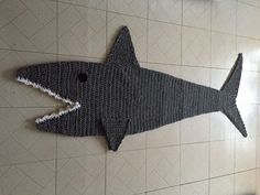 Adult size shark blanket. Crawl inside this cocoon style adult blanket. The…
