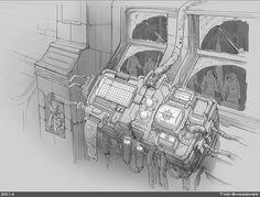 ArtStation - Station, Two-Shadowed Jane Environment Concept, Environment Design, Spaceship Interior, Background Drawing, Mobile Art, Prop Design, Cyberpunk Art, Science Fiction Art, 2d Art