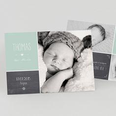 Faire-part de naissance personnalisés, faire-partardoise,vintage, photos fpc