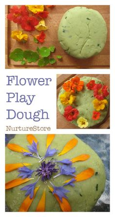 Flower play dough recipe for spring and summer sensory play