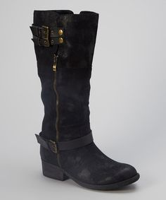 Take a look at this Black Chesney Boot by Rebels Footwear on #zulily today!