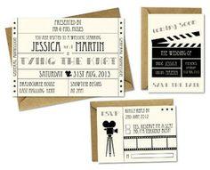 Hollywood Wedding Invitation Set DIY by Little Joy Designs from Little Joy Designs