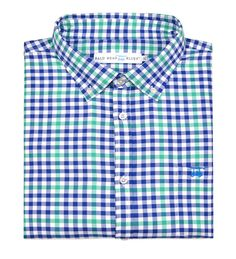 Parkway Button Down - Blue/Green