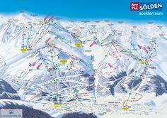 Sölden Piste Map (High resolution / .JPEG) #sölden #skiing #austria