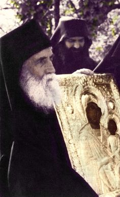 """Elder Paisios: """"I like all the icons of the Panagia. Even if I find Her name written somewhere, I embrace it many times with reverence and my heart leaps..."""" http://www.johnsanidopoulos.com/2012/08/elder-paisios-favorite-icon-of-panagia.html"""