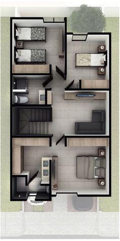 Casas en Querétaro - Modelo Jiva Planta alta - Antalia Residencial