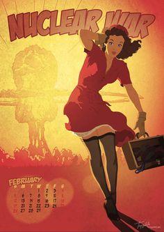 Apocalypse Tomorrow #pinup #vintage #calendar