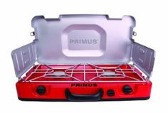 Primus designed the Firehole™ 100 Propane Camp Stove for demanding outdoor chefs. Stainless steel grates hold up to heavy cast iron pots and pans, while the ergonomic double handle makes for easy transport. It features an integrated flexible fuel line that tucks into the body of the stove for easy storage and recessed knobs make for sleeker packing.Output: 12000 BTU/.Ignition Piezoelectric.Boiling Time: 3 min.