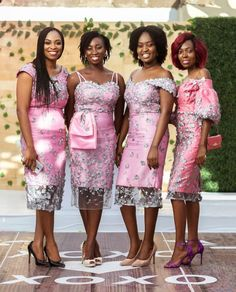 Best Bridesmaid Color trends of the year African Bridesmaid Dresses, Best African Dresses, African Lace Styles, Latest African Fashion Dresses, Bridesmaid Color, Bridesmaids, African Traditional Wedding Dress, Lace Dress Styles, Africa Dress