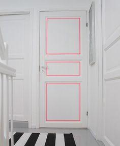 Oven koristelu teipillä.