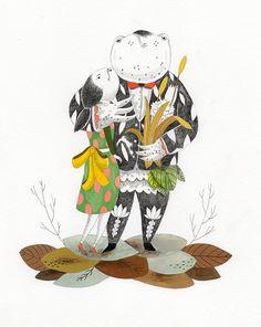 illustration  / Andersen by Inca Pan, via Behance