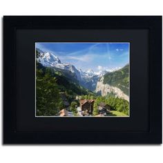 Trademark Fine Art A New Day in the Swiss Alps Canvas Art by Philippe Sainte-Laudy, Black Matte, Black Frame, Size: 11 x 14
