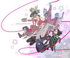 Guardians of the Galaxy 2 - (click for full res!) by ABD-illustrates