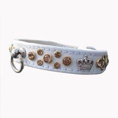 Halsband Crown weiß