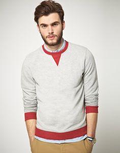 ASOS Sweatshirt With Contrast Rib