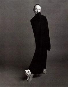 Grace Coddington and cat.