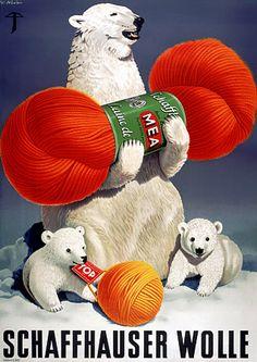 Vintage Japanese ad, thanks to a wonderful post on 50 Watts Nicco Carlo , 1925 Alois Carigiet , . Vintage Advertisements, Vintage Ads, Vintage Posters, Vintage Prints, Knitting Humor, Crochet Humor, Vintage Knitting, Vintage Sewing, Save The Polar Bears