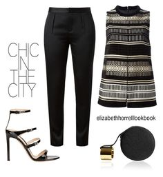 """""""LIZ"""" by elizabethhorrell ❤ liked on Polyvore featuring Gianvito Rossi, Alexander Wang, Proenza Schouler and Perrin"""