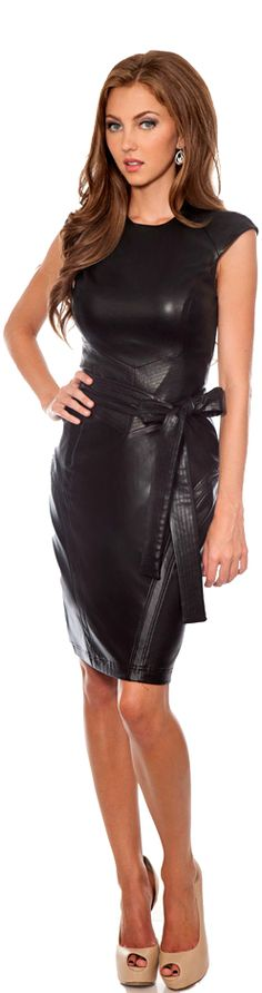 Leather.... On Pinterest | Leather Dresses Black Leather Dresses And Black Leather
