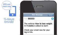 With WebinarJam you send SMS and voice message last-minute call!