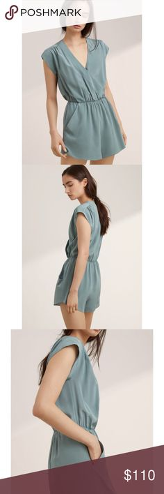 NWOT ARITZIA BABATON CORBETT ROMPER XXS BEAUTIFUL 100% SILK! NWOT Babaton silk romper. Completely sold out in stores and online ! Size XXS Aritzia Other