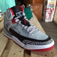 Jordan Spizike GS Grey / Black Red (Fall 2014) Preview