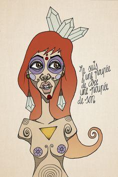 Je suis un poupee de cire, une poupee de son Illustration, 2015 by Esuda