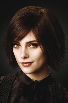 """This is Ashley Greene, the actress who plays Alice Cullen in the Twilight franchise.  She has a """"Rachel"""" look about her ...."""