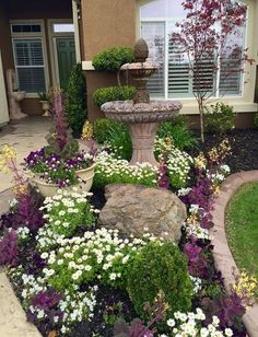 50 Stunning Spring Garden Ideas for Front Yard and Backyard Landscaping – small front yard ideas Low Maintenance Landscaping, Front Yard Landscaping, Backyard Landscaping, Landscaping Ideas, Backyard Ideas, Pool Ideas, Landscaping Borders, Backyard Designs, Outdoor Ideas