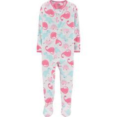 Microfleece Footed Blanket Sleeper (Baby Girls   Toddler Girls) e5b06df4a