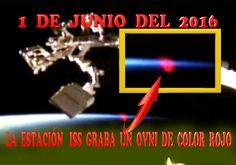La Estación Espacial Graba Un Ovni o Entidad De color Rojo En DIRECTO. #...