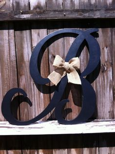Hand Cut Wood Letter B 24 Any Letter A  Z  Any by VintageShore, $45.00